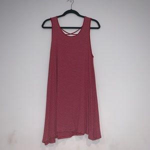 Heart & Hips Red and White Striped Dress